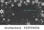 christmas silver background... | Shutterstock .eps vector #535934056