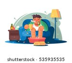man sick with cold | Shutterstock .eps vector #535935535
