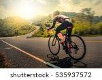 men cycling mountain road bike... | Shutterstock . vector #535937572