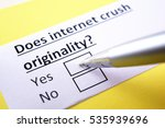Small photo of Does internet crush originality? Yes.