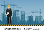 builder man manager worker on...   Shutterstock . vector #535942618