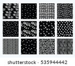 vector set of hand drawn... | Shutterstock .eps vector #535944442