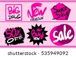 sale stickers collection | Shutterstock .eps vector #535949092