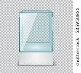 empty glass showcase  display... | Shutterstock .eps vector #535950832