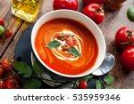 tomato soup | Shutterstock . vector #535959346