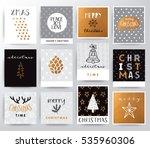 christmas illustration set | Shutterstock .eps vector #535960306