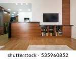 wooden counter in modern new... | Shutterstock . vector #535960852