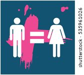 man equal to woman gender... | Shutterstock .eps vector #535961026
