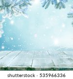merry christmas and happy new... | Shutterstock . vector #535966336