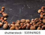 background of mixed nuts  ... | Shutterstock . vector #535969825