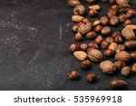 background of mixed nuts  ... | Shutterstock . vector #535969918