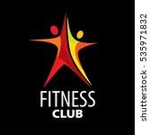 vector logo for fitness | Shutterstock .eps vector #535971832