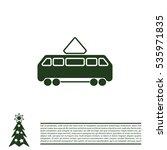 tram icon   Shutterstock .eps vector #535971835