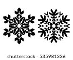 pair of stencil style... | Shutterstock .eps vector #535981336