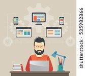 man software engineer concept... | Shutterstock . vector #535982866