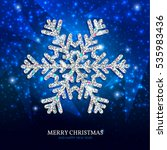 christmas banner with glowing... | Shutterstock .eps vector #535983436