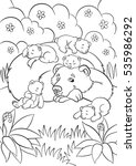coloring pages. wild animals.... | Shutterstock .eps vector #535986292