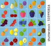 vector flat design fruits and... | Shutterstock .eps vector #535990816