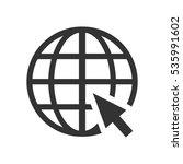 globe web icon flat. grey... | Shutterstock . vector #535991602