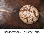 rye bread on dark background.... | Shutterstock . vector #535992286