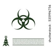 biohazard symbol. vector sign... | Shutterstock .eps vector #535996756