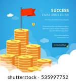 huge growth money stairs in sky ... | Shutterstock .eps vector #535997752