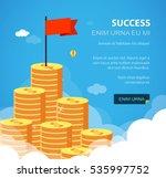 huge growth money stairs in sky ... | Shutterstock .eps vector #535997752