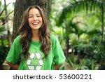 young environmental activist ... | Shutterstock . vector #53600221