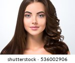 hair before after advertising.... | Shutterstock . vector #536002906