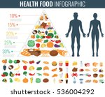 health food infographic. food... | Shutterstock .eps vector #536004292