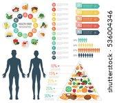 health food infographic. food... | Shutterstock .eps vector #536004346