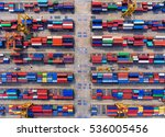 container container ship in... | Shutterstock . vector #536005456