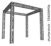 steel truss girder rooftop... | Shutterstock . vector #536008906