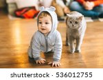 christmas  little boy and the... | Shutterstock . vector #536012755