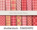 tartan seamless vector patterns ... | Shutterstock .eps vector #536024392