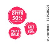 christmas 50  off sale labels | Shutterstock .eps vector #536028208