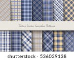 tartan seamless vector patterns ... | Shutterstock .eps vector #536029138