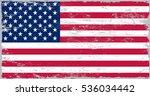 grunge usa flag.vector american ... | Shutterstock .eps vector #536034442