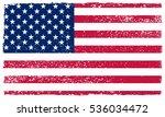 grunge usa flag.vector american ... | Shutterstock .eps vector #536034472