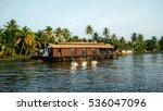Brown House Boat Sailing...