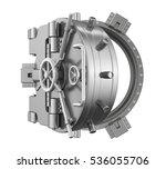 open bank vault door. 3d...   Shutterstock . vector #536055706