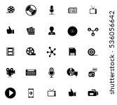 media icons   Shutterstock .eps vector #536056642