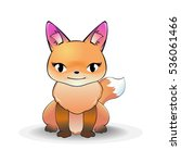 the fox stye cartoon | Shutterstock .eps vector #536061466