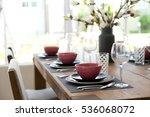 elegant table set up for...   Shutterstock . vector #536068072