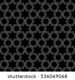 white and black mosaic moroccan ...   Shutterstock . vector #536069068