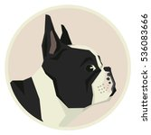 dog collection french bulldog... | Shutterstock .eps vector #536083666