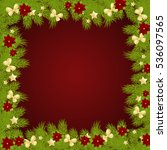 christmas background with fir... | Shutterstock . vector #536097565