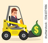 vector businessman or manager... | Shutterstock .eps vector #536107486
