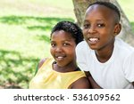 close up portrait of two... | Shutterstock . vector #536109562