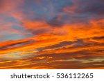 sunset from addo elephant... | Shutterstock . vector #536112265